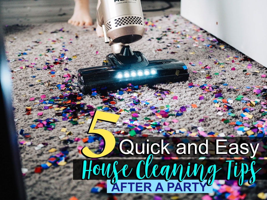 Home Cleaning Tips after Party